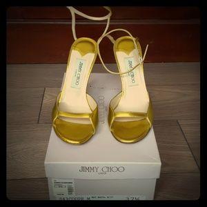 Jimmy Choo London yellow metallic 37.5